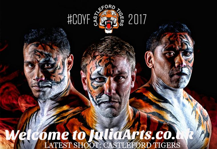 Castleford Tigers Face Painting by JuliaArts