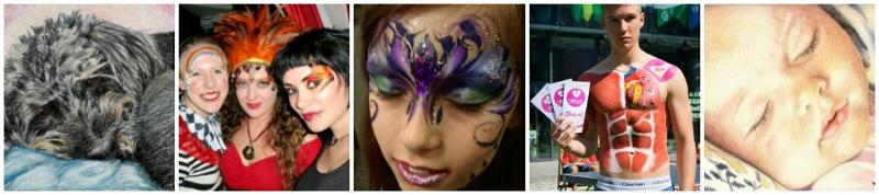 JuliaArts Face Painting, Body Art and Pencil Portraits