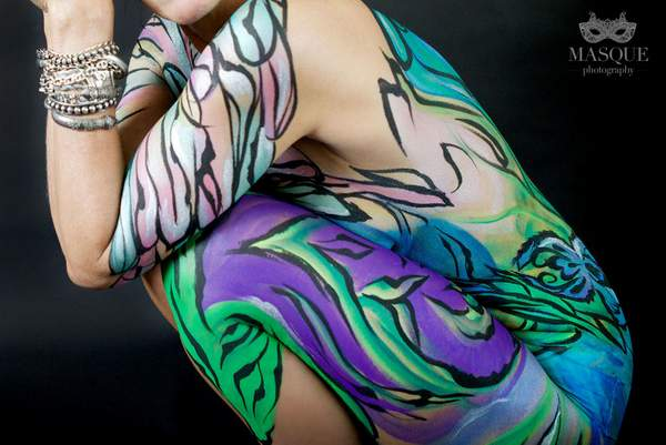 JuliaArts Dragonfly Body Paint