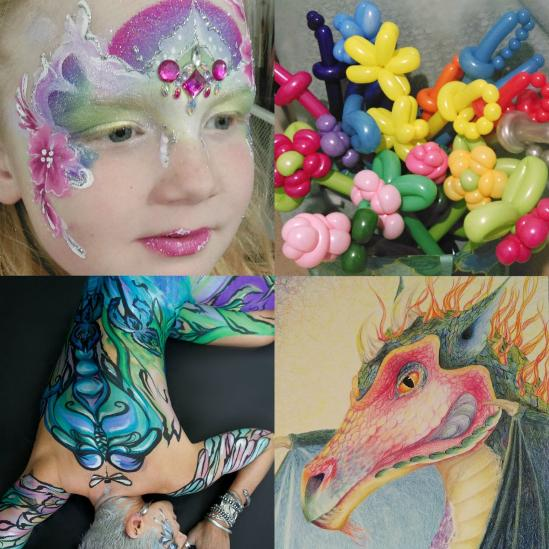 Baloon twisting, Portaits, Body Art and Face Painting by JuliaArts